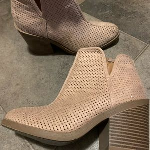 Dusty pink boots